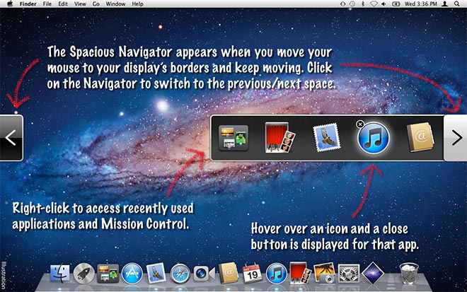 Spacious 1 0: fast switching between OS X Lion spaces, fullscreen