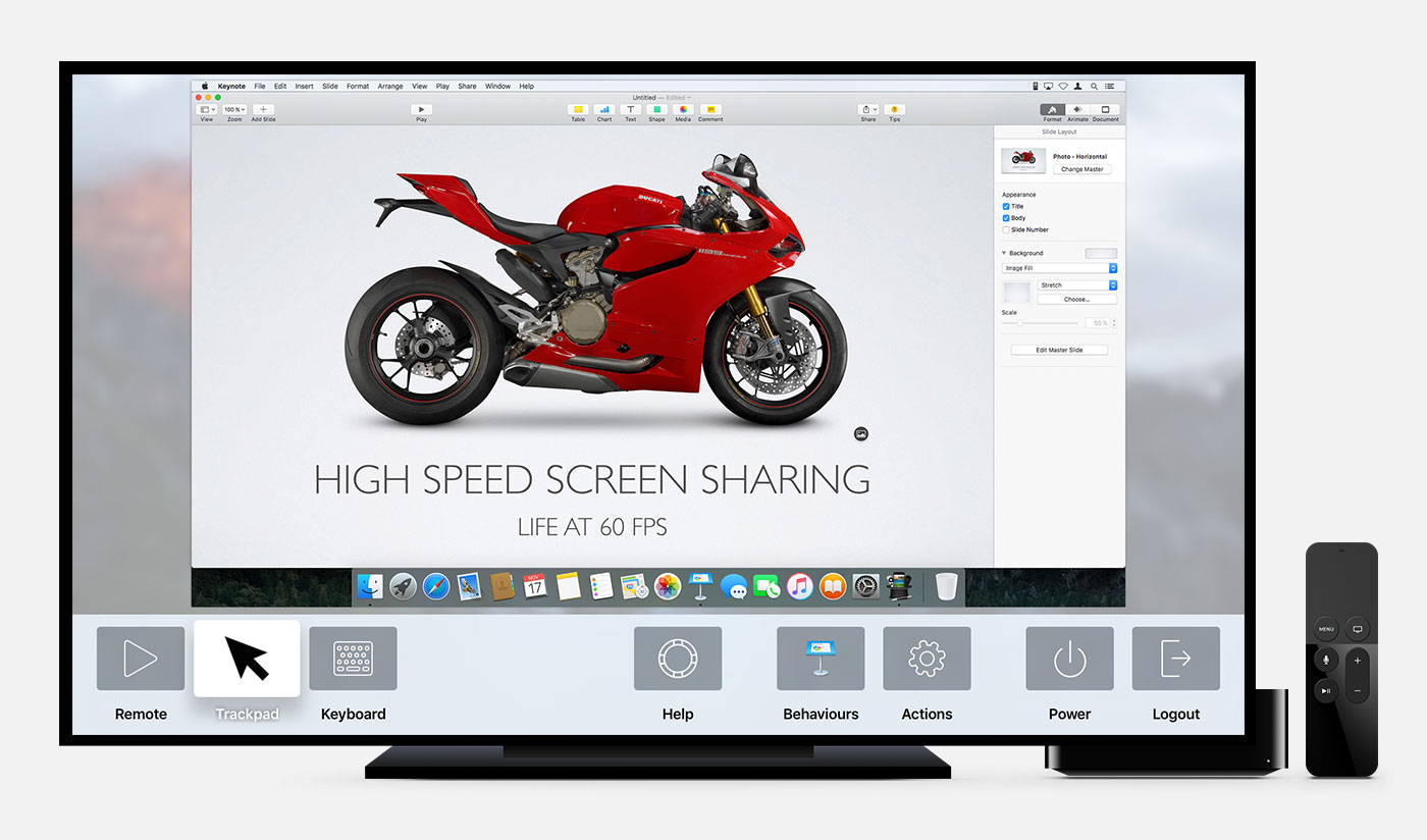 Apple TV Screen Sharing App turns Siri Remote into Mac Trackpad & Remote Image